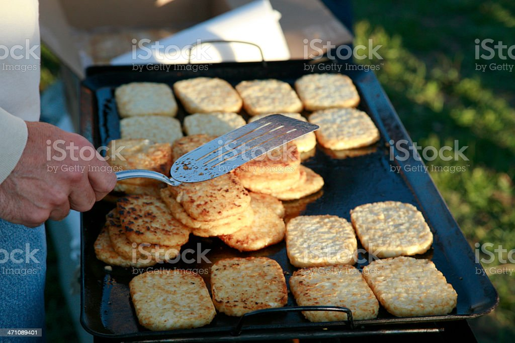 Camp Breakfast royalty-free stock photo