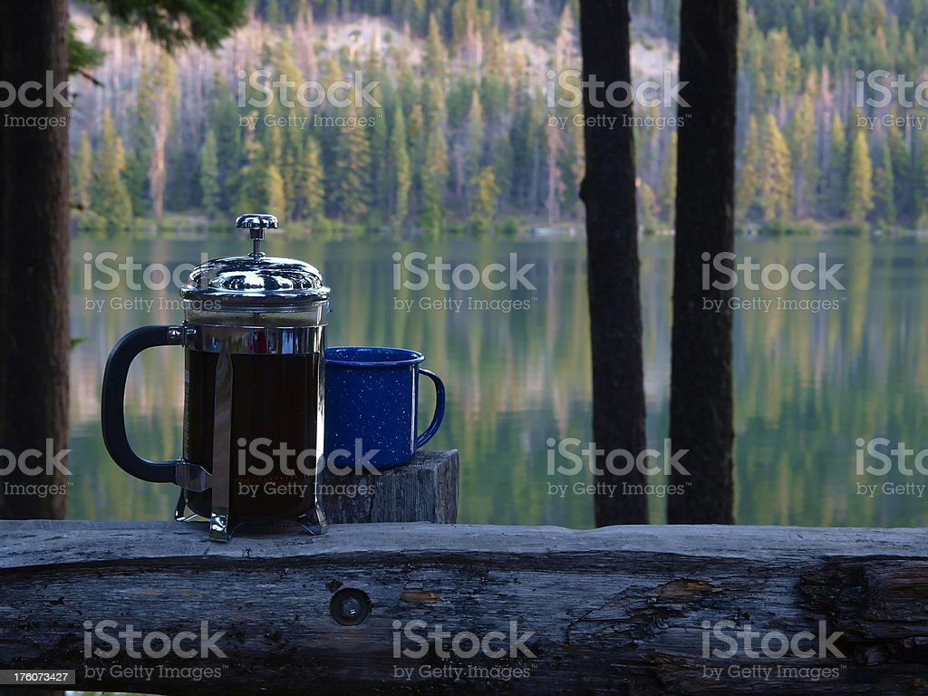 Camp Coffee royalty-free stock photo