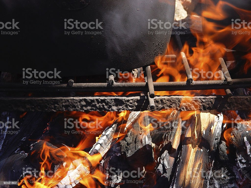 camp cooking royalty-free stock photo