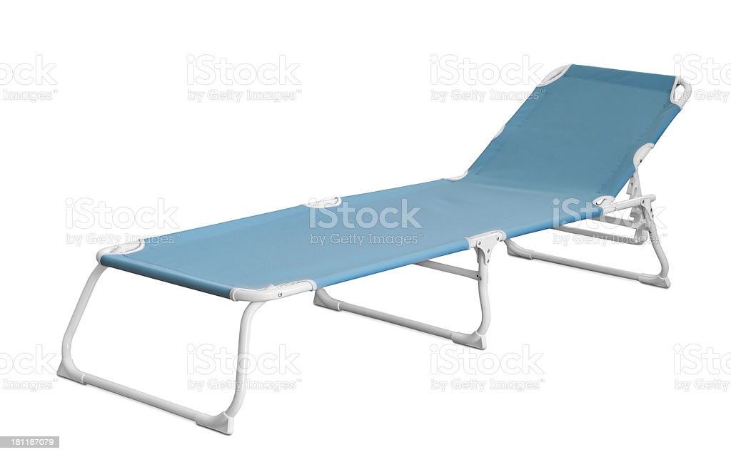 Camp cot stock photo
