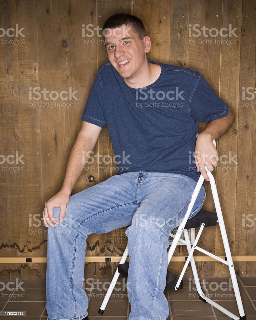 Camp Counselor: Let's Talk stock photo