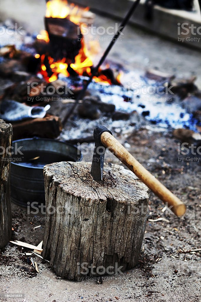 Camp Fire Dinner royalty-free stock photo