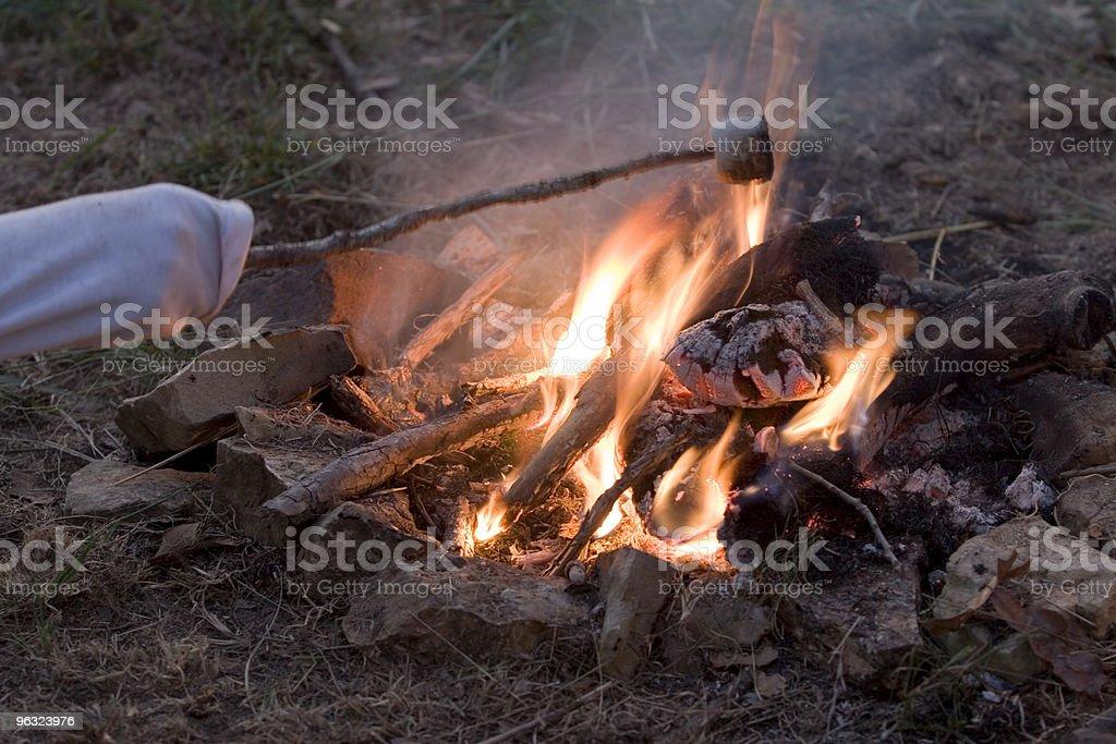 Camp Fire Fun stock photo