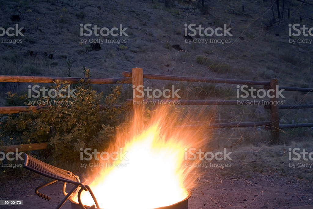 Camp Fire stock photo