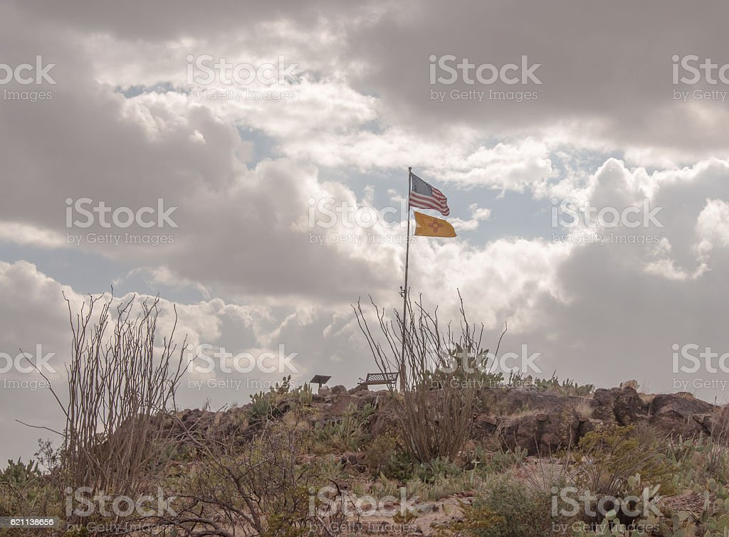 Camp Furlong at Pancho Villa State Park in New Mexico stock photo