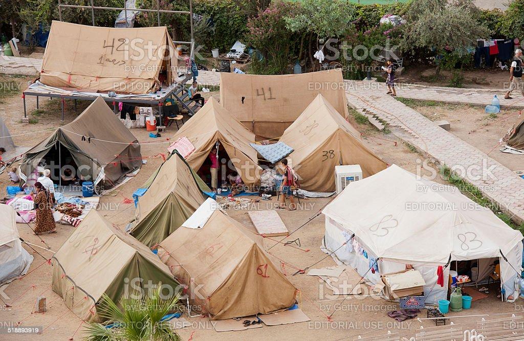 IDP camp in Kurdistan stock photo