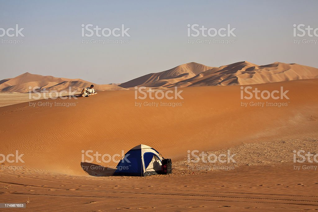 Camp in the desert Oman royalty-free stock photo