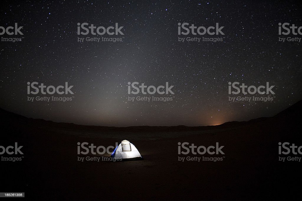 Camp in the desert royalty-free stock photo