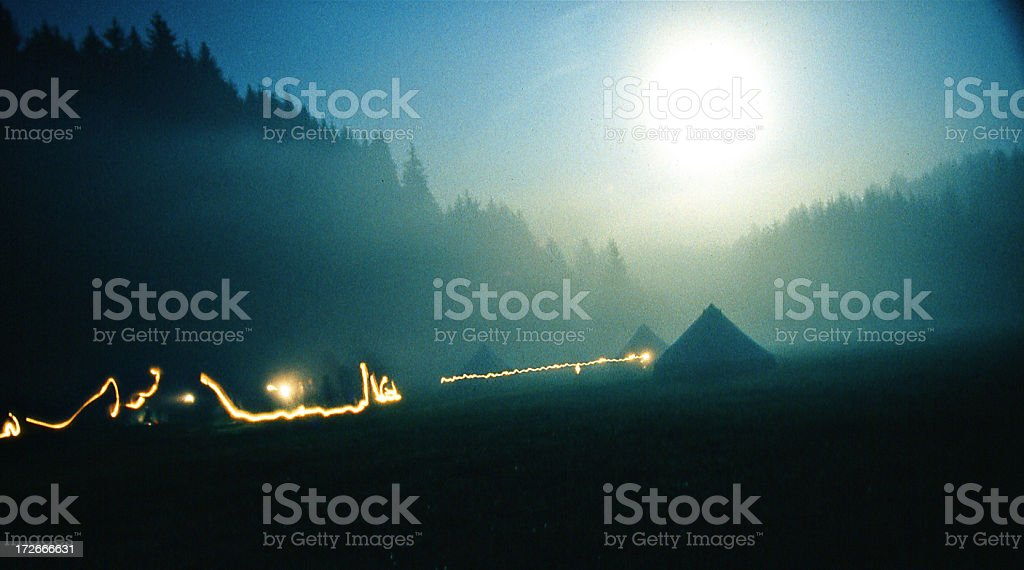 Camp In The Moonlight royalty-free stock photo