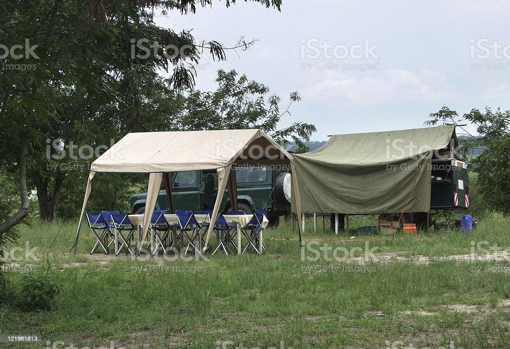 camp in Uganda royalty-free stock photo