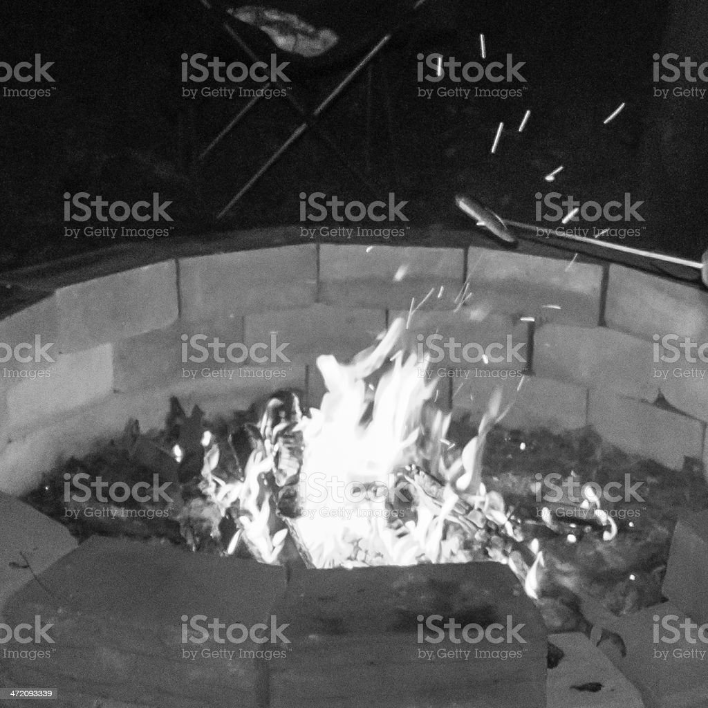 Camp Life In Black and White royalty-free stock photo