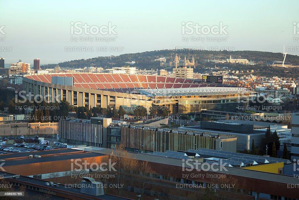 Camp Nou, barcelona stadium royalty-free stock photo