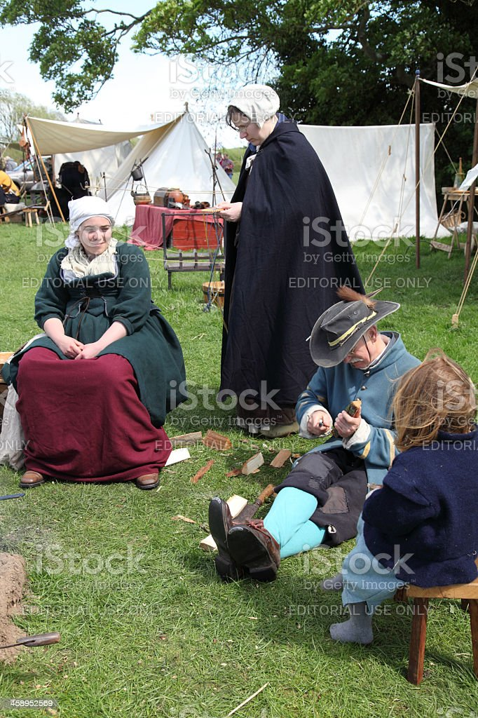 Camp site reenactment royalty-free stock photo