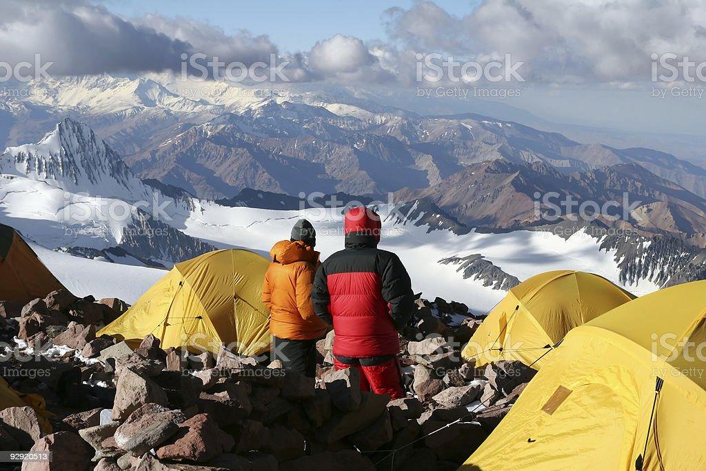 Camp Two - Aconcagua stock photo