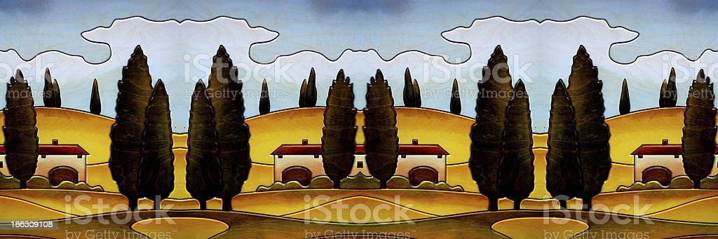 campagna toscana royalty-free stock photo