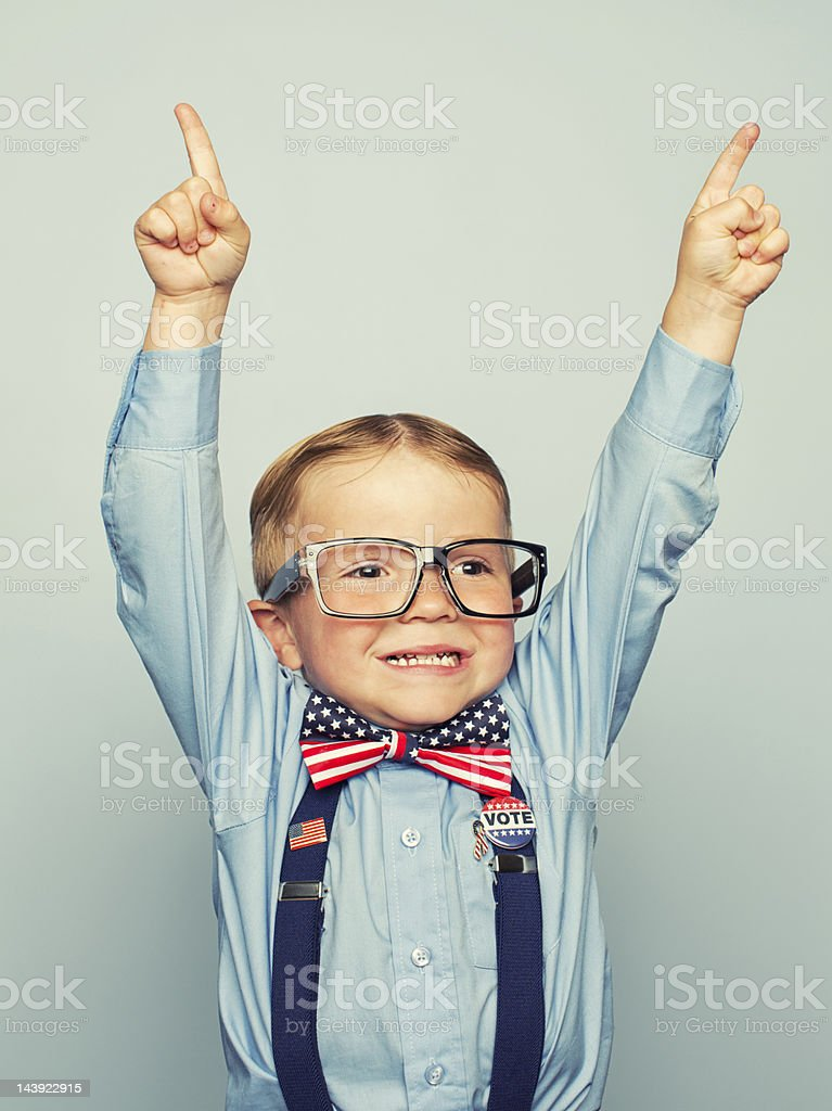 Campaign Victory stock photo