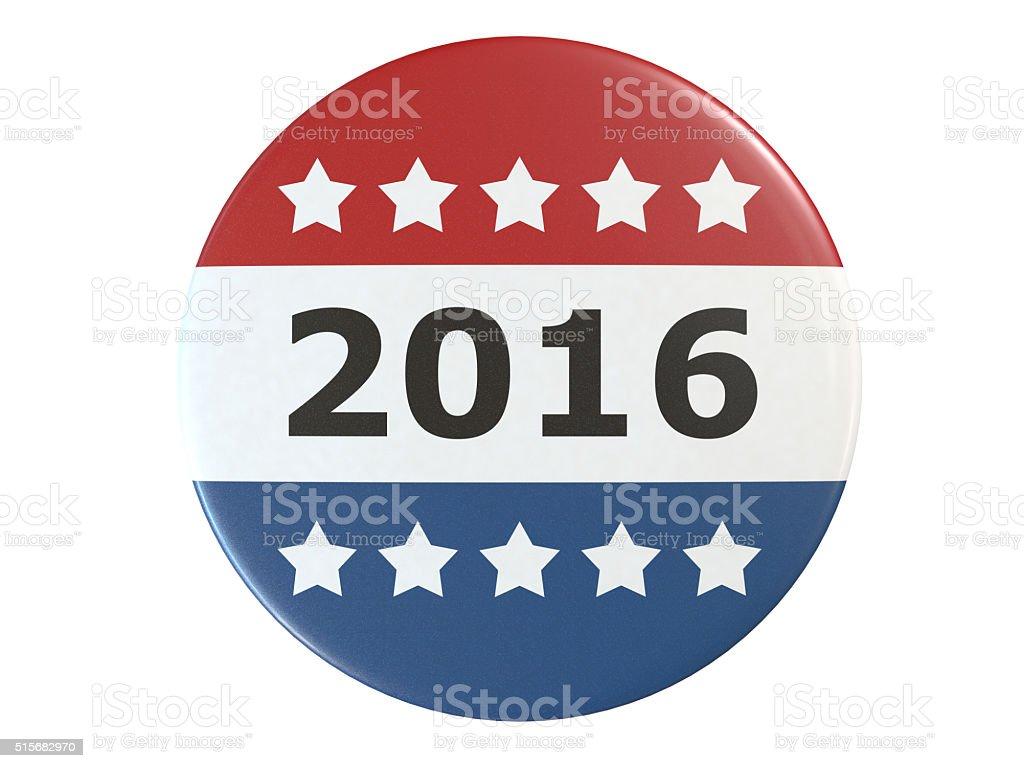 Campaign Vote Button stock photo