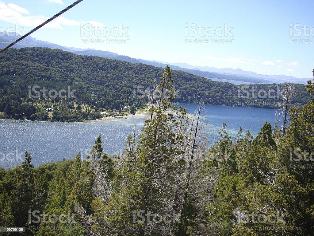 Campanario Hill and Lake stock photo