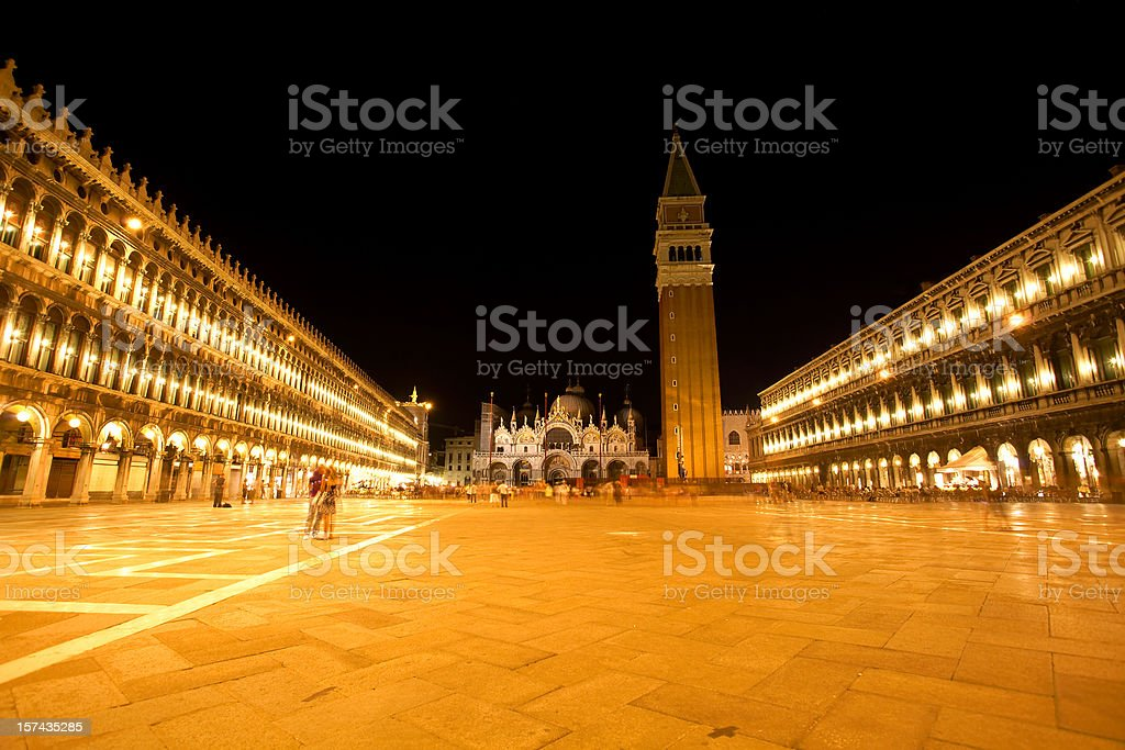 campanile and St. Mark's Square in Venice, Italy royalty-free stock photo