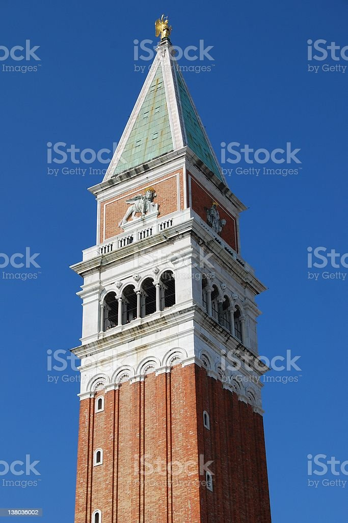 Campanile bell tower, Venice, Italy royalty-free stock photo