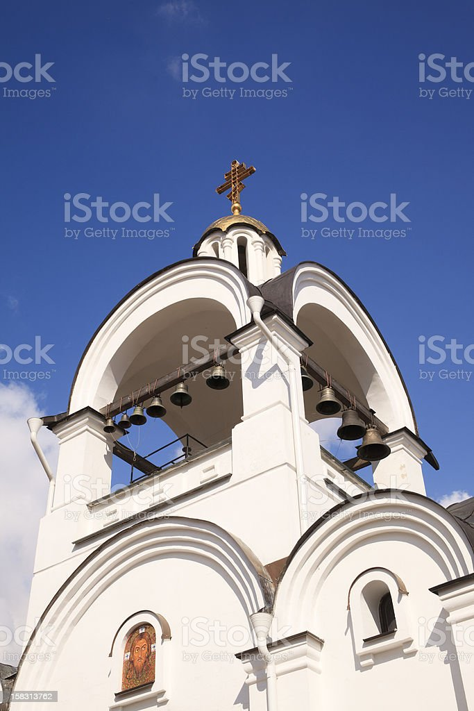 Campanile in Orthodox church stock photo