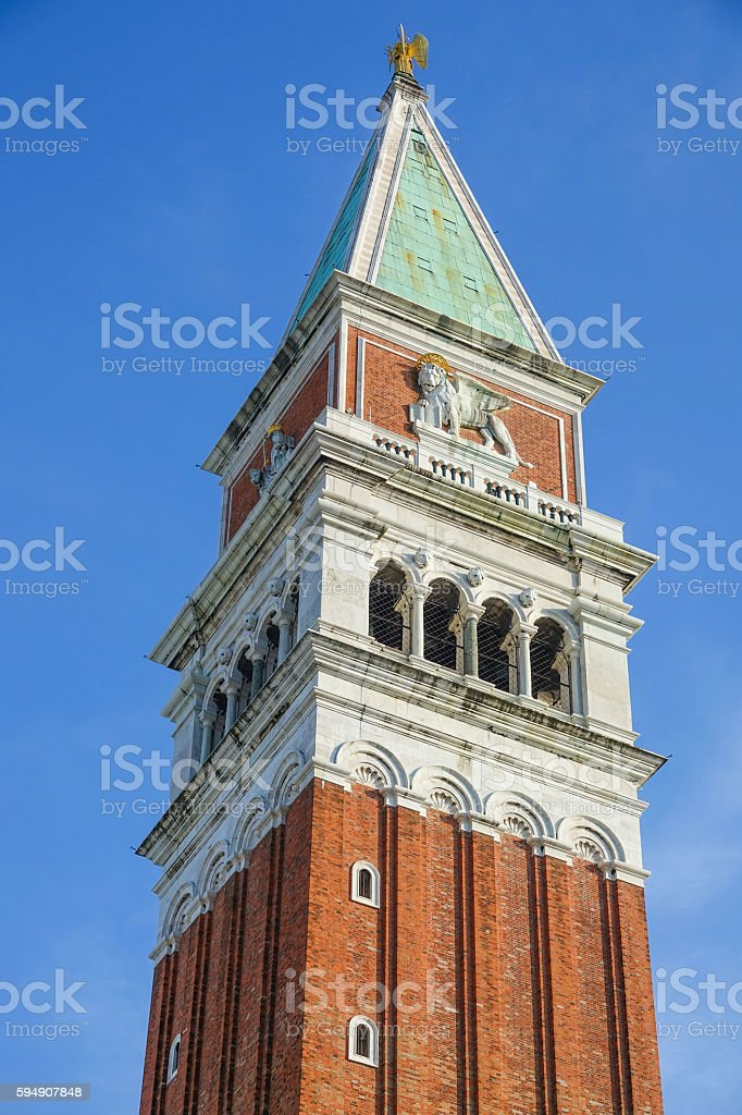 Campanile Tower at St Marks square in Venice - San Lizenzfreies stock-foto
