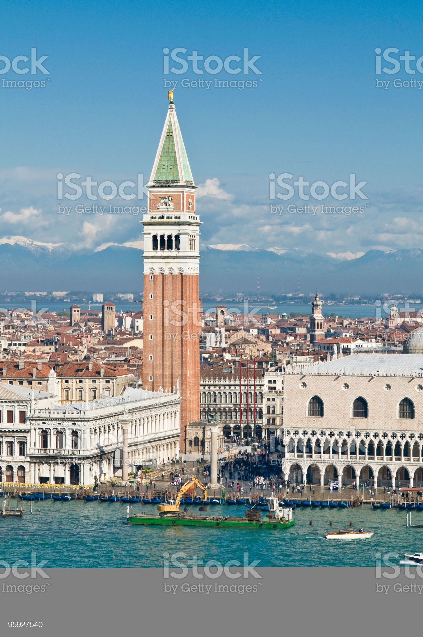 Campanile Venice cityscape royalty-free stock photo