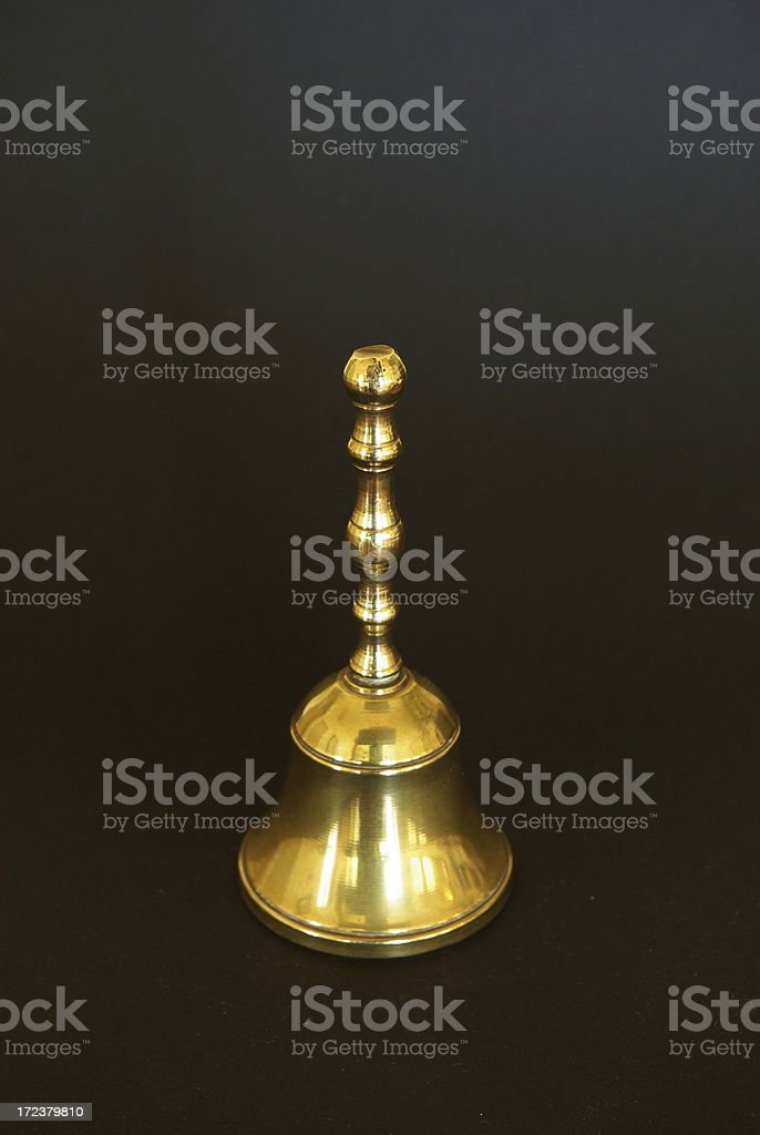 Campanilla en negro royalty-free stock photo