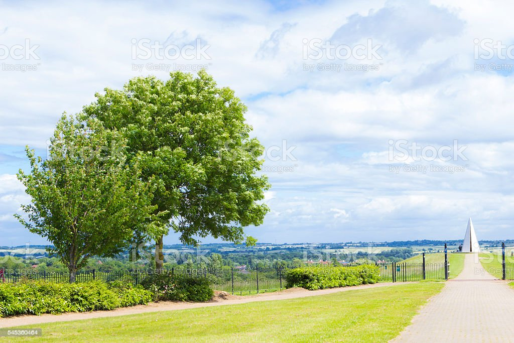 Campbell Park in Milton Keynes at summer day stock photo