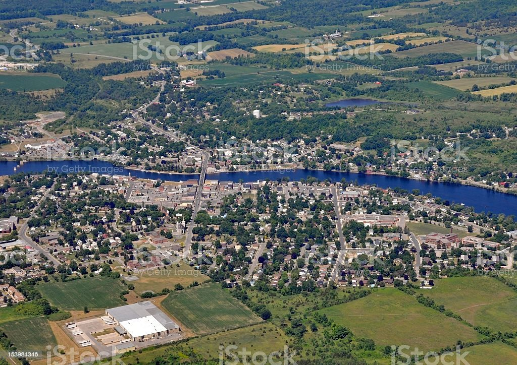 Campbellford, aerial stock photo