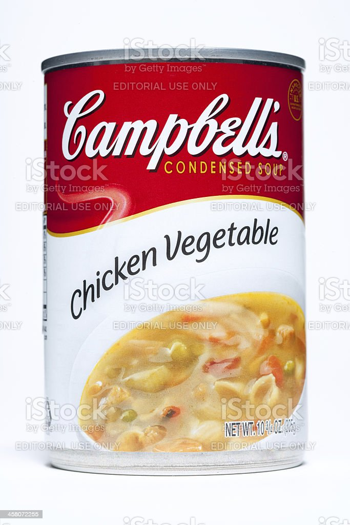 Campbell's Chicken Vegetable Soup royalty-free stock photo
