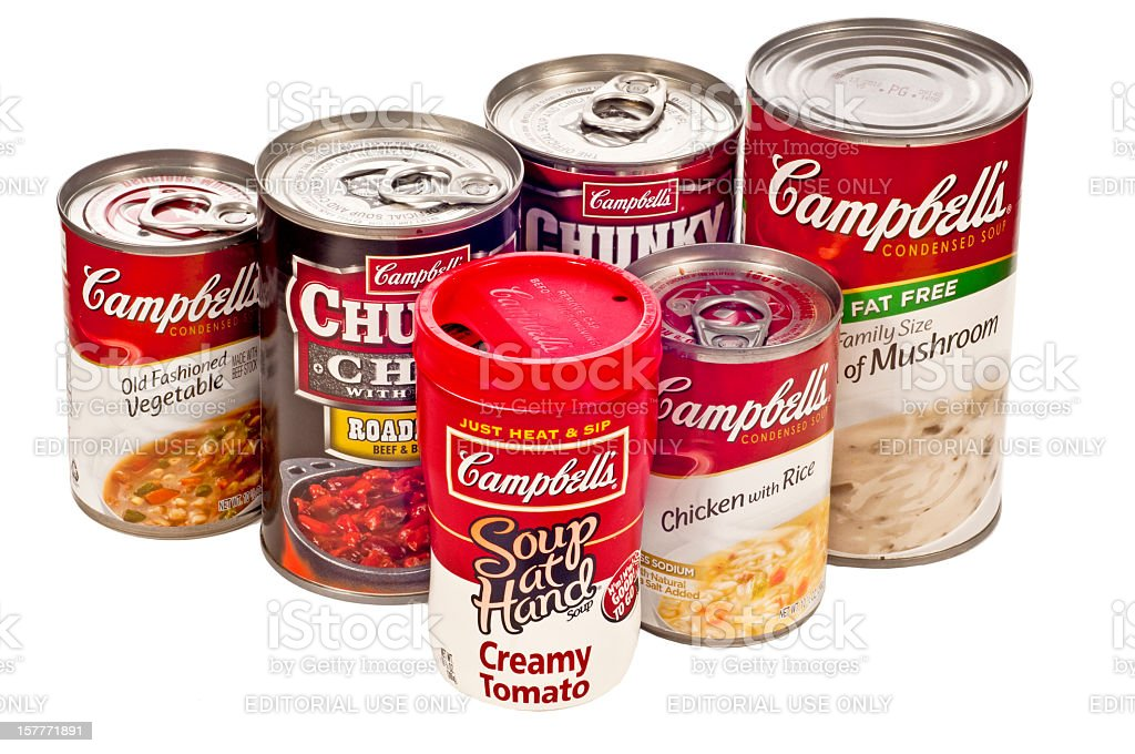 Campbell's Soup Company Products royalty-free stock photo