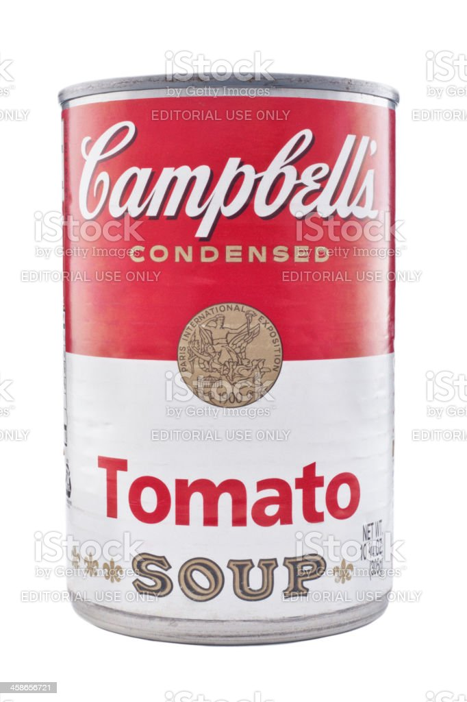 Campbell's Tomato Soup Can stock photo