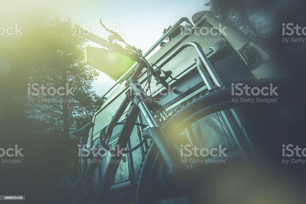 Camper Bike on the Rack stock photo