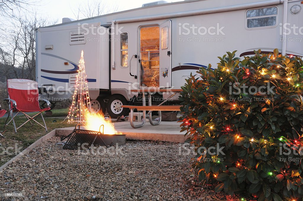 RV camper on holiday vacation royalty-free stock photo