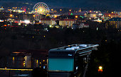 Camper overlooking Pigeon Forge at night