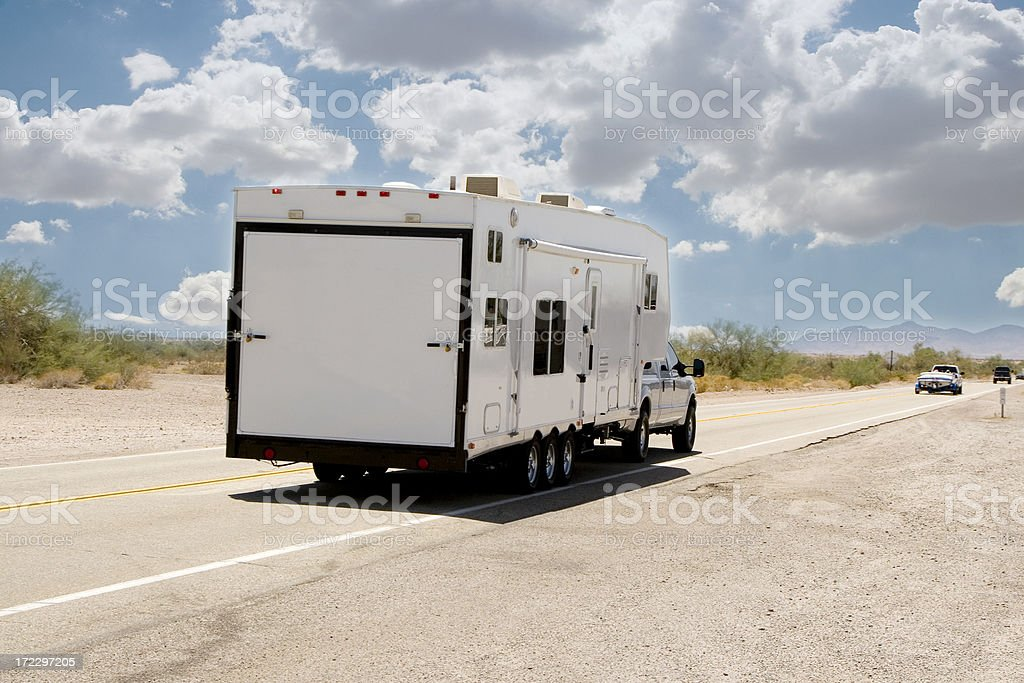 Camper stock photo