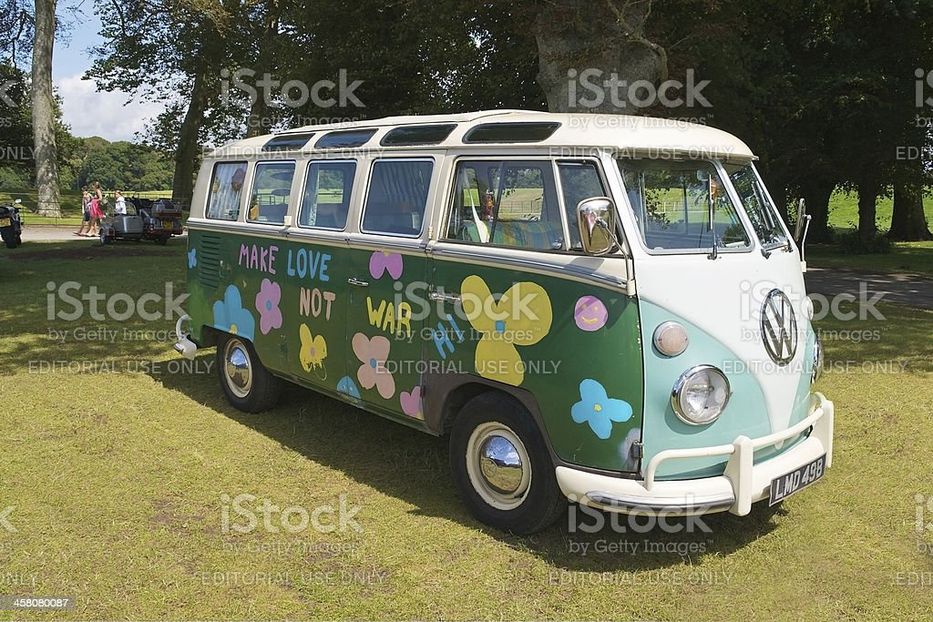 VW Camper Van stock photo