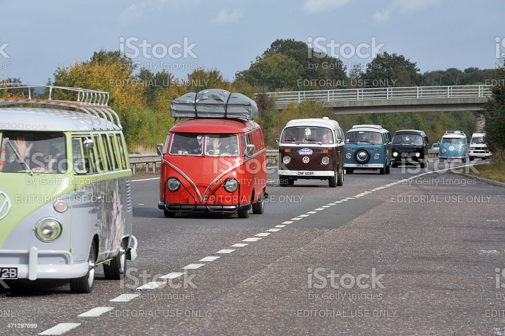 Camper vans stock photo