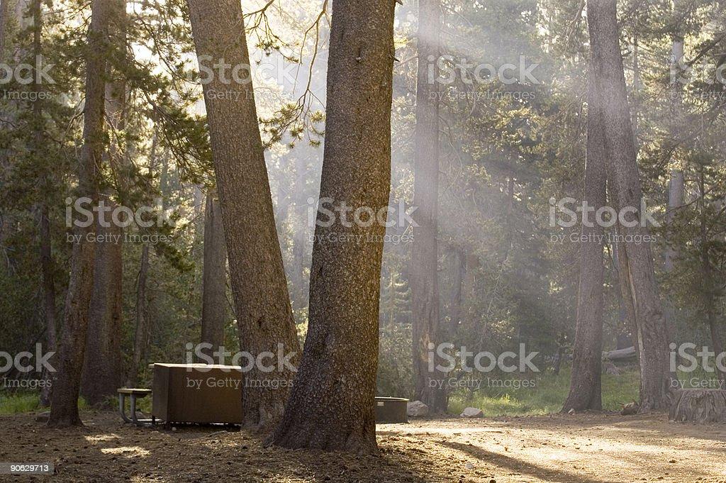 Camper's Morning stock photo