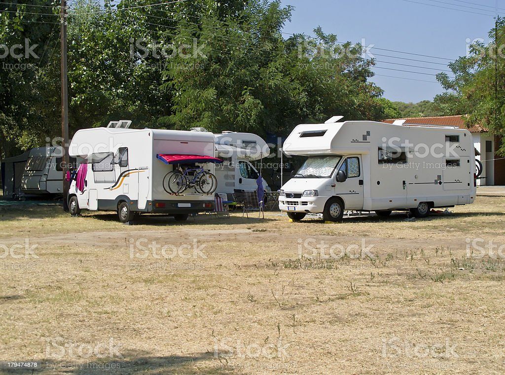 campers stock photo