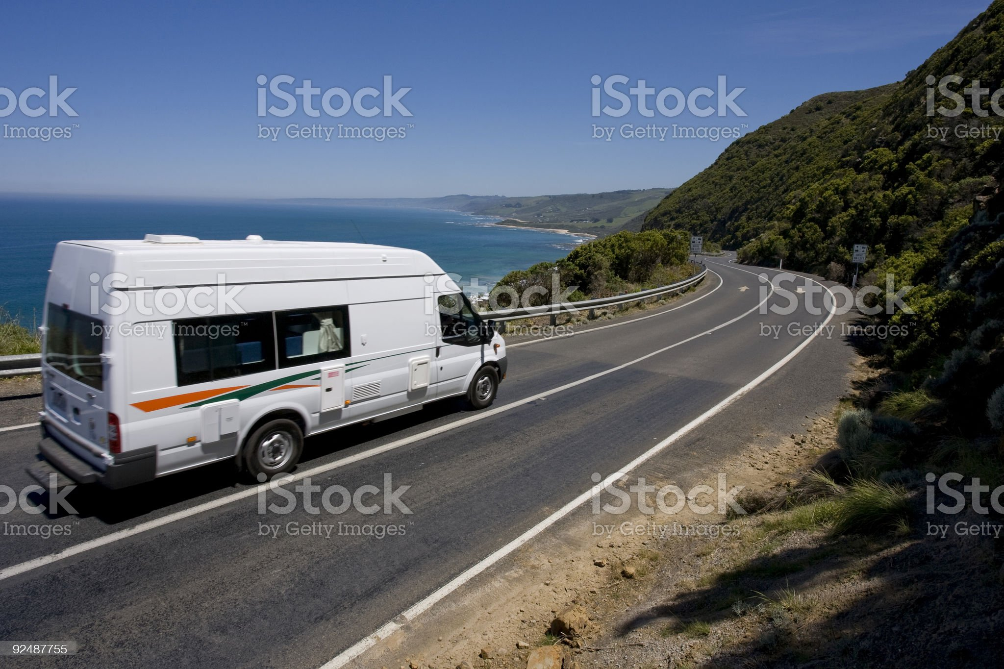 Campervan holiday on The Great Ocean Road, Australia royalty-free stock photo