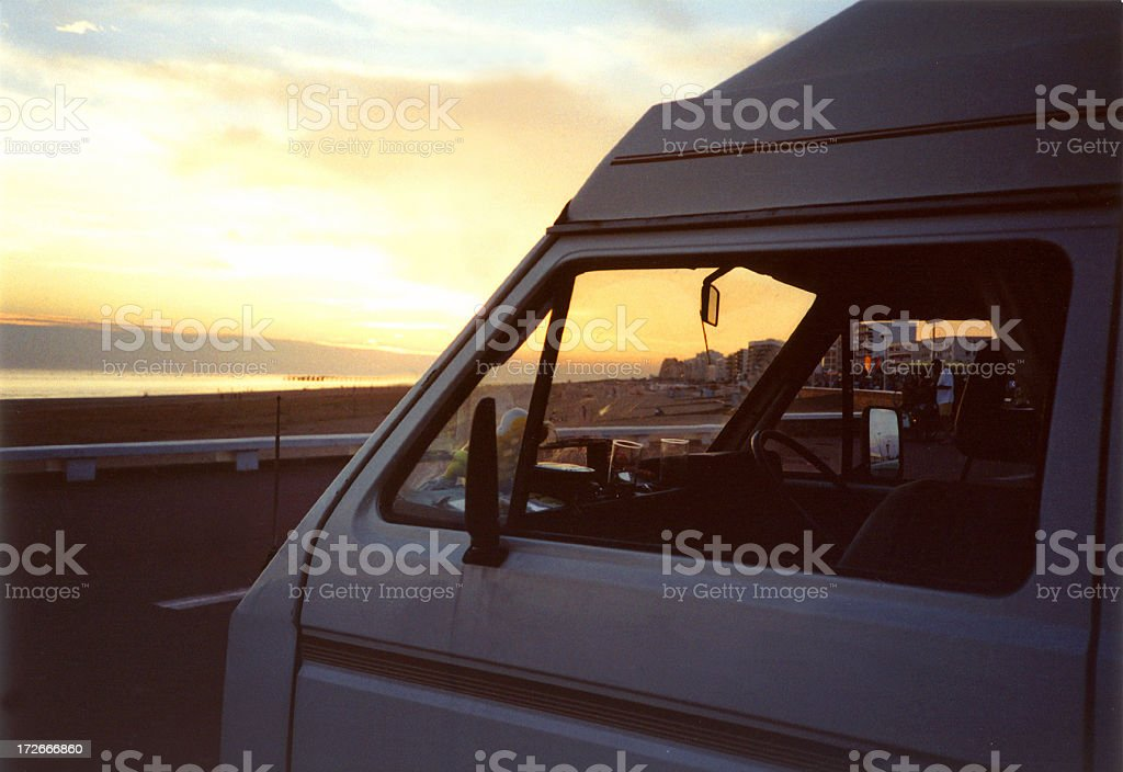Campervan Sunset royalty-free stock photo