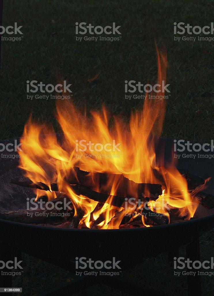 Campfire at Night royalty-free stock photo