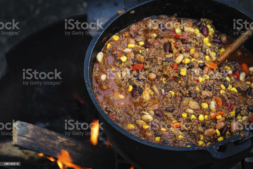 Campfire Chili royalty-free stock photo