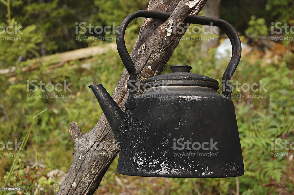 Campfire coffee pot royalty-free stock photo