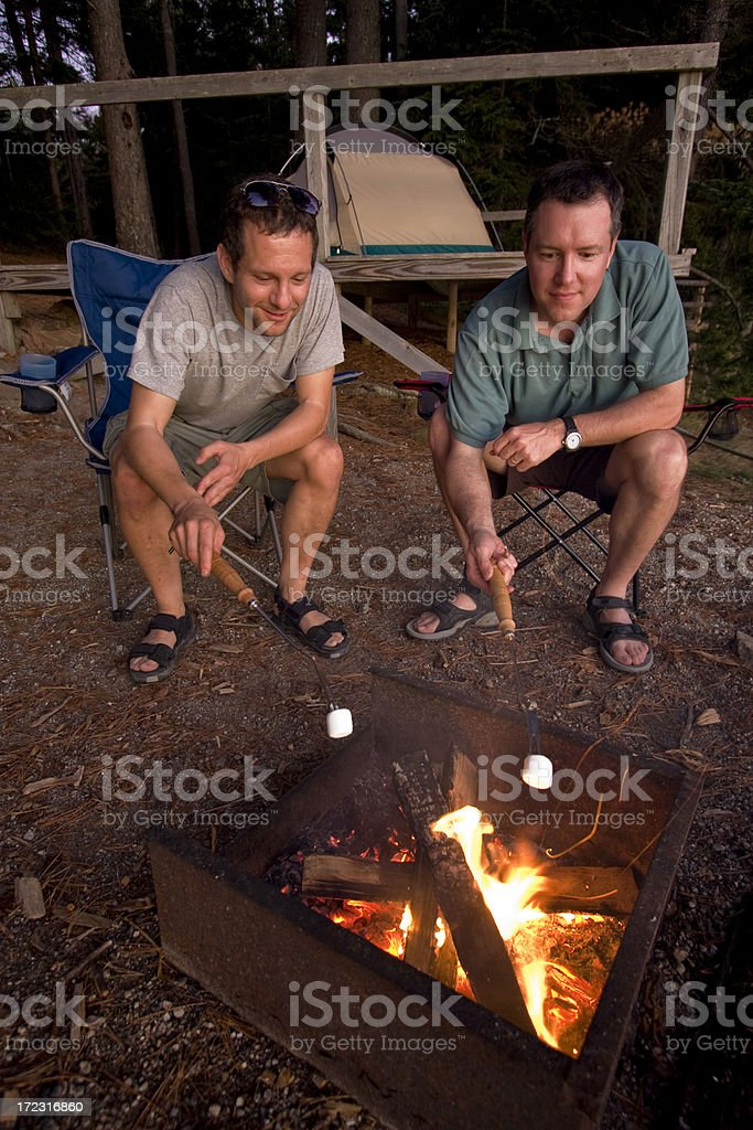 Campfire guys royalty-free stock photo