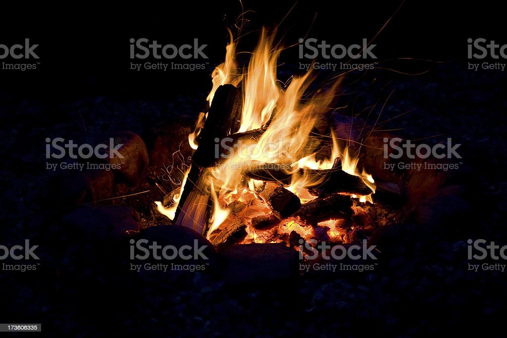 Campfire (series-two) royalty-free stock photo
