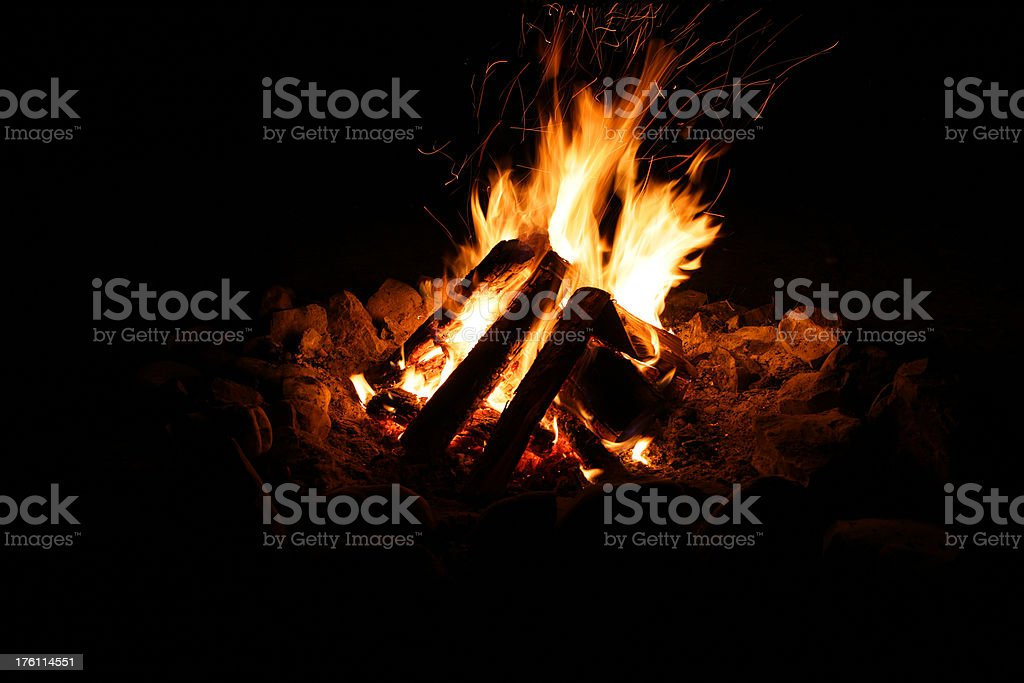 Campfire (two) royalty-free stock photo