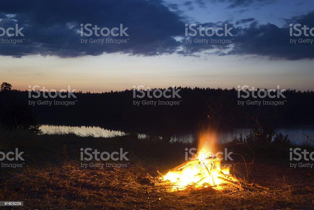 Campfire. royalty-free stock photo